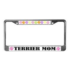 Terrier Mom Pet License Plate Frame