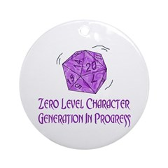 0-Level Character Generation Ornament (Round)