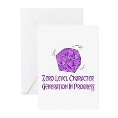 0-Level Character Generation Greeting Cards (Pk of