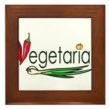 Vegetarian Trio Framed Tile