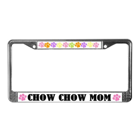 Chow Chow Mom Dog License Plate Frame