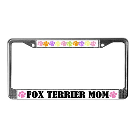 Fox Terrier Mom Pet License Plate Frame