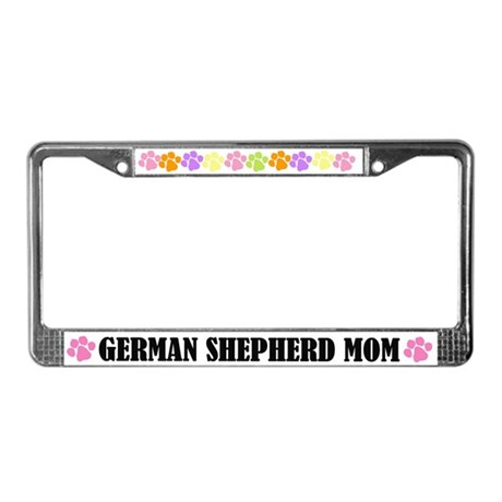 German Shepherd Mom License Frame