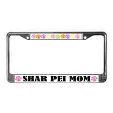 Shar Pei Mom Pet License Plate Frame
