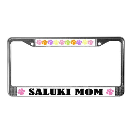 Saluki Mom Pet License Plate Frame