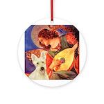 Mandolin / Scottie (w) Ornament (Round)