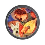 Mandolin / Scottie (w) Wall Clock