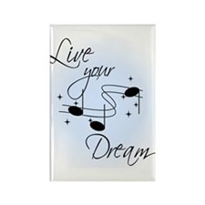 Live Your Dream Rectangle Magnet (10 pack)