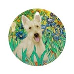 Irises / Scottie (w) Ornament (Round)