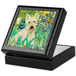 Irises / Scottie (w) Keepsake Box