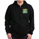 Irises / Scottie (w) Zip Hoodie (dark)
