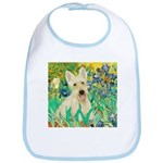 Irises / Scottie (w) Bib