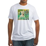Irises / Scottie (w) Fitted T-Shirt