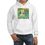 Irises / Scottie (w) Hooded Sweatshirt
