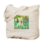 Irises / Scottie (w) Tote Bag