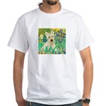 Irises / Scottie (w) White T-Shirt