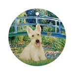 Bridge / Scottie (w) Ornament (Round)