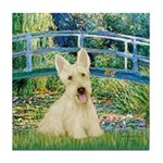 Bridge / Scottie (w) Tile Coaster