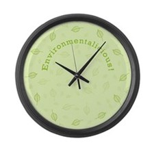 Environmentalicious Large Wall Clock