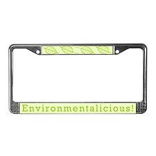 Environmentalicious License Plate Frame