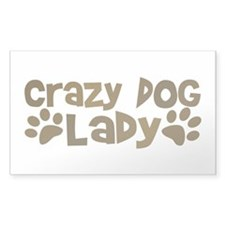 Crazy Dog Lady Rectangle Decal