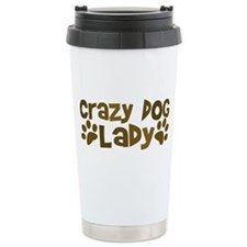 Crazy Dog Lady Ceramic Travel Mug