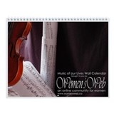 Women's Web Music of Our Lives Wall Calendar