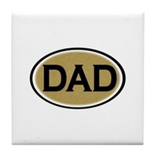 Dad Oval Tile Coaster