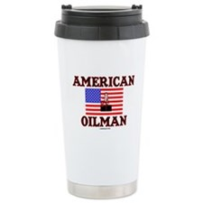 American Oilman Ceramic Travel Mug,Oil,Rig