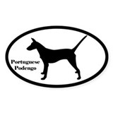 Portuguese Podengo Silhouette Sticker (Smooth)