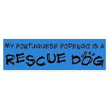 Rescue Dog Portuguese Podengo Bumper Bumper Sticker