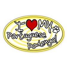 Hypno I Love My Portuguese Podengo Sticker Ylw