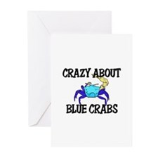 Crazy About Blue Crabs Greeting Cards (Pk of 10)