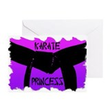 Martial Arts Karate Princess Greeting Cards 20PK