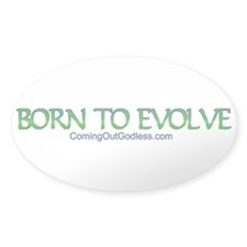 Born to Evolve Oval Sticker (50 pk)
