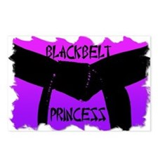 Martial Arts Black Belt Princess Postcards 8PK