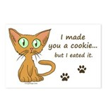 Cute Kitty Ate Your Cookie Postcards (Package of 8