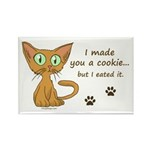 Cute Kitty Ate Your Cookie Rectangle Magnet (10 pa