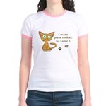 Cute Kitty Ate Your Cookie Jr. Ringer T-Shirt