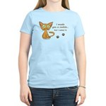 Cute Kitty Ate Your Cookie Women's Light T-Shirt