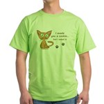 Cute Kitty Ate Your Cookie Green T-Shirt
