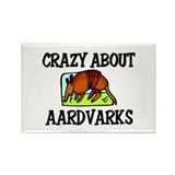 Crazy About Aardvarks Rectangle Magnet