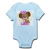 God is Love Puppy Baby Creeper