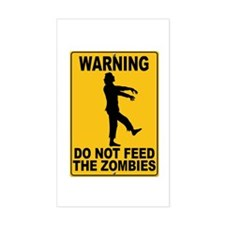 Do Not Feed the Zombies Rectangle Decal