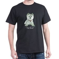 """The Boss"" Westhighland White Terrier T-Shirt"