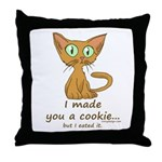 Cute Kitty Ate Your Cookie Throw Pillow