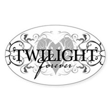Twilight Forever Oval Stickers
