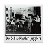 Bix Beiderbecke & His Rhythm Jugglers Tile Coaster