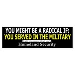 You Might Be A Radical If: Bumper Sticker (10 pk)