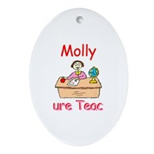 Molly - Future Teacher Oval Ornament